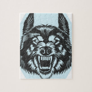 Angry wolf jigsaw puzzle