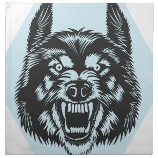 Angry wolf napkin