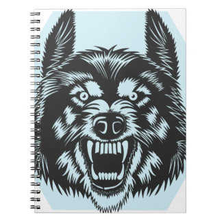 Angry wolf notebook