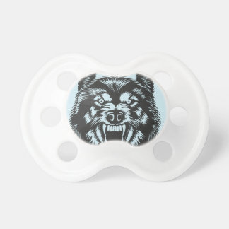 Angry wolf pacifier