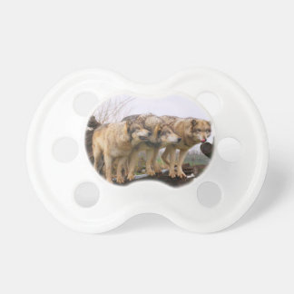 Angry Wolf Pack Baby Pacifier