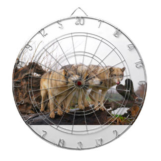 Angry Wolf Pack Dartboard