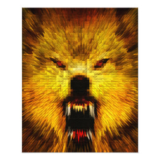 Angry Wolf Photo Art