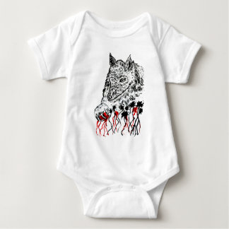 Angry Wolf Sketch2 Baby Bodysuit