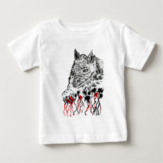 Angry Wolf Sketch2 Baby T-Shirt