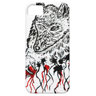 Angry Wolf Sketch2 iPhone 5 Covers