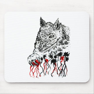 Angry Wolf Sketch2 Mouse Pad