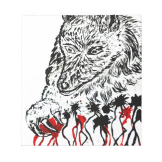 Angry Wolf Sketch2 Notepads