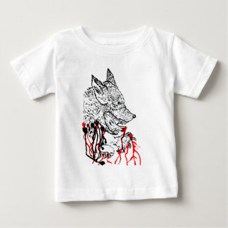 Angry Wolf Sketch Baby T-Shirt
