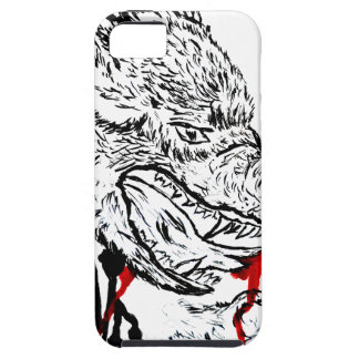 Angry Wolf Sketch iPhone 5 Cover