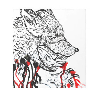 Angry Wolf Sketch Notepads