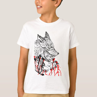 Angry Wolf Sketch T-Shirt