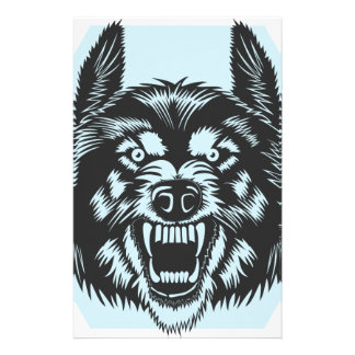 Angry wolf stationery