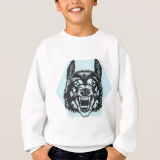 Angry wolf sweatshirt