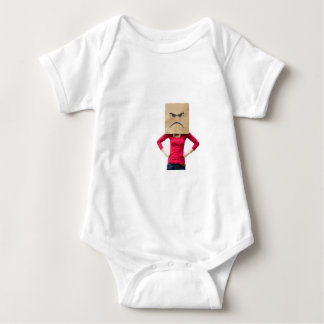 Angry woman baby bodysuit