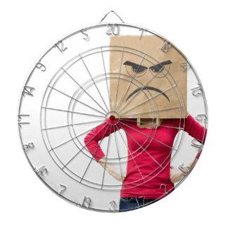 Angry woman dartboard