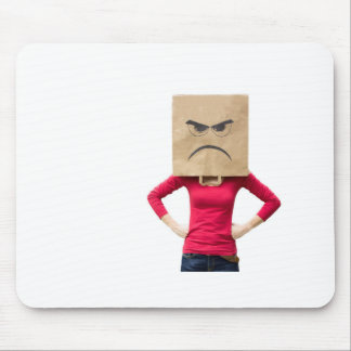 Angry woman mouse pad