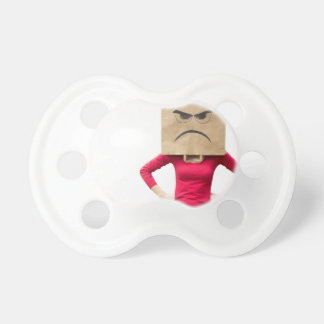 Angry woman pacifiers