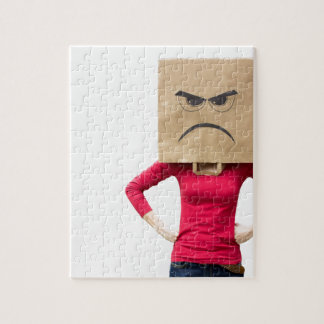 Angry woman puzzle