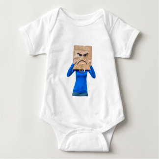 Angry woman showing fists baby bodysuit