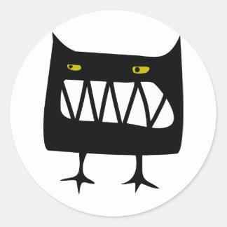 Angry Wossum Classic Round Sticker