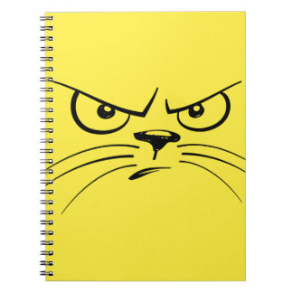 Angry Yellow Kitty Face Notebook