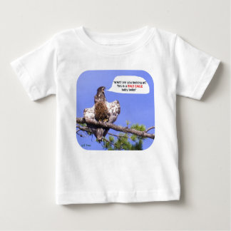 Angry Young Bald Eagle Baby T-Shirt