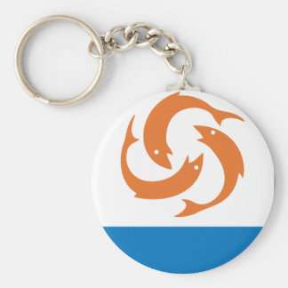Anguilla Coat Of Arms Basic Round Button Keychain