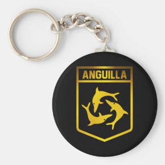 Anguilla Emblem Basic Round Button Keychain