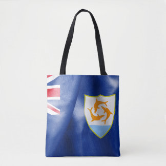 Anguilla Flag All-Over-Print Tote Bag