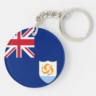 Anguilla Flag Double-Sided Round Acrylic Keychain