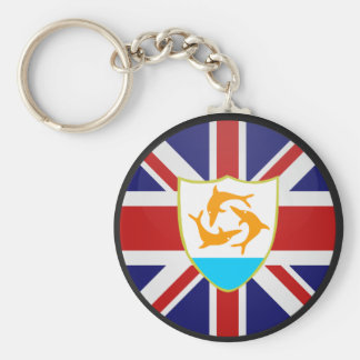 Anguilla quality Flag Circle Keychain
