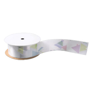 Angular Pastel Ribbon - 1.5 inch Satin Ribbon