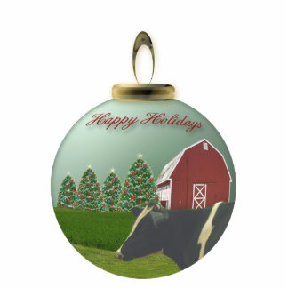 Angus Cow Christmas Farm Ornament Photo Sculpture Ornament