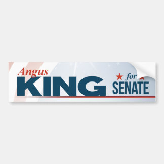Angus King for Senate Bumper Sticker