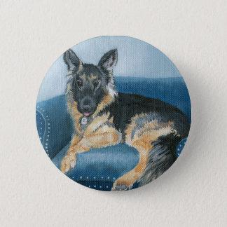 Angus the German Shepherd 2 Inch Round Button