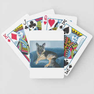 Angus the German Shepherd Bicycle Playing Cards