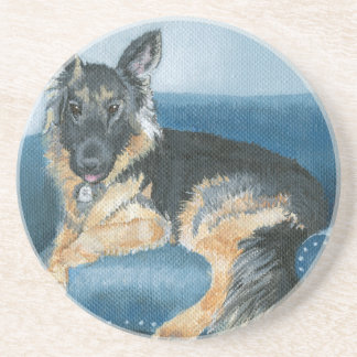 Angus the German Shepherd Coaster
