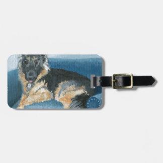 Angus the German Shepherd Luggage Tag