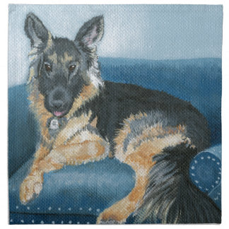 Angus the German Shepherd Napkin