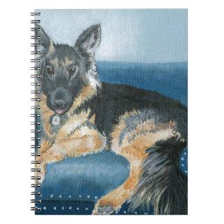 Angus the German Shepherd Notebook