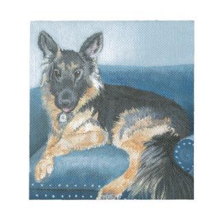 Angus the German Shepherd Notepad