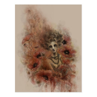 Anima Sola Dark Fantasy Art Postcard