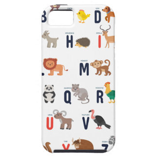 Animal ABCs - Alphabet iPhone 5 Cases