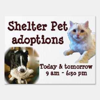 Animal Adoption Shelter Pet Sign