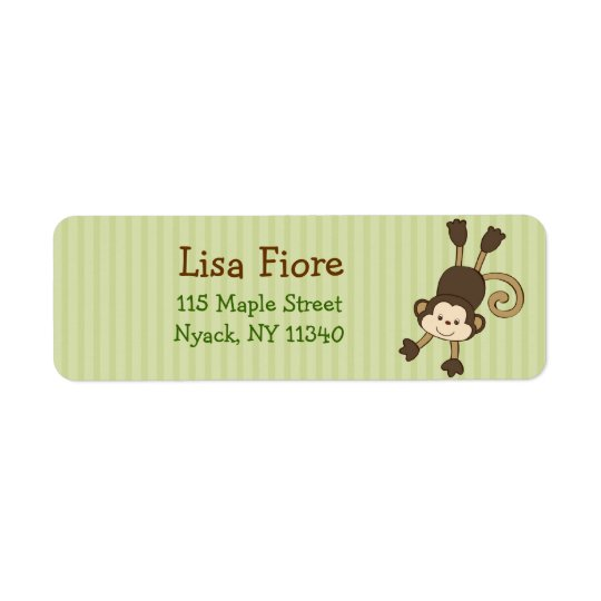 Animal Adventure Monkey Birthday Address Labels
