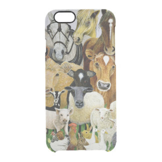 Animal Allsorts Clear iPhone 6/6S Case