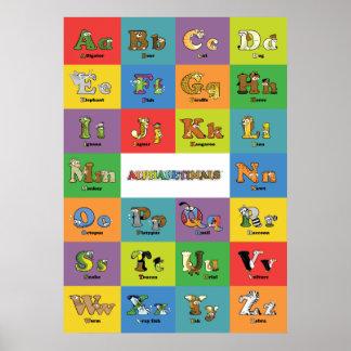 Animal Alphabet - Alphabetimals Poster