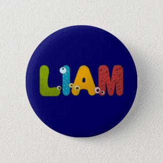 animal alphabet Liam 2 Inch Round Button