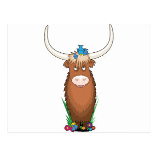 Animal Alphabet Yak Postcard